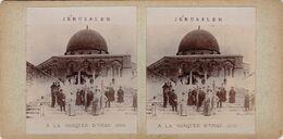 Photo Stereo Jerusalem La Mosquée D'omar 1906 - Stereoscoop