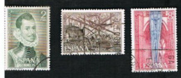 SPAGNA (SPAIN)  -  SG 2113.2115 - 1971 LEPANTO BATTLE ANNIVERSARY (COMPLET SET OF3)   - USED - 1931-Oggi: 2. Rep. - ... Juan Carlos I
