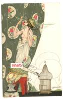 BRUNELLESCHI Art Nouveau Jugendstil  Femme à La Perruche  N°2 Série 31 - Brunelleschi