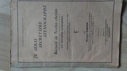 Recueil Sténographie 3ème éditions La Ruche 42 Pages (qques Scans) - Woordenboeken