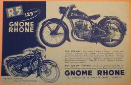VERITABLE PUBLICITE ORIGINALE MOTO R5 125 Cm3 - GNOME ET RHONE - SCAN RECTO/VERSO - France