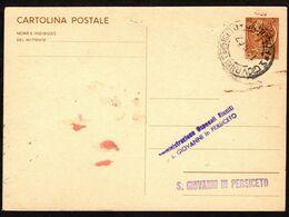 1957 Italia, Cartolina Postale Da Lire 30 Siracusana Utilizzata Come Ricevuta Di Ritorno, Timbri E Firme Al Verso - 1946-60: Poststempel