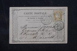 FRANCE - Carte Précurseur De Paris Pour Marseille En 1874, Affranchissement Cérès 15ct, Oblitération étoile 38 - L 69215 - Ganzsachen