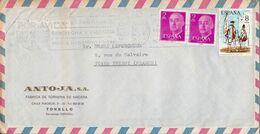 ESPAGNE AFFRANCHISSEMENT COMPOSE SUR LETTRE POUR LA FRANCE 1976 - 1971-80 Cartas