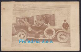 Sinča Ves, Photo Picture Postcard, Slovenian Shop, Owners In A Car, Mailed 1920, Slight Tear, Creased - Slovenia