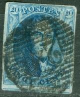 Belgique   Cob 11A Ob  TB Et Margé - 1858-1862 Medaillen (9/12)