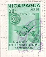 PIA - NICARAGUA - 1955 :  Francobollo Di Posta Aera - Cinquantenario Del Rotary Internazionale -   (Yv P.A.332 ) - Nicaragua