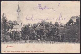 Zavratec (near Idrija), Church, Jerkič Mailed 1903, Slightly Soiled - Slovenia