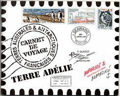 2005. TAAF. Carnet De Voyage C418. Historique, 12 Feuillets. - Carnets