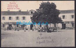 """Bazovica, Inn """"pri Lipi"""", Mailed Ca 1910 - Slovenia"""