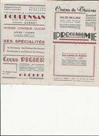 2 PROGRAMMES   CINEMA  DU THEATRE   GUERET - Programma's