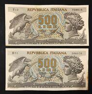 500 Lire Aretusa 1966 + 1967 Spl/sup   LOTTO 3337 - [ 2] 1946-… : Républic