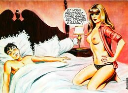 CPA Illustration Carrière Femme Seins Nus    Années 60 - Carrière, Louis