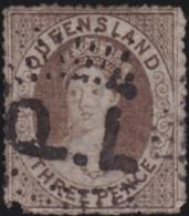 Queensland    .    SG        .    16       .         O      .       Cancelled .   /   .  Oblitéré - Gebraucht