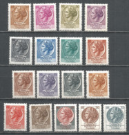 Italy 1968 Year, Mint MNH(**) Stamps , Michel # 1253-69 - 6. 1946-.. Republic