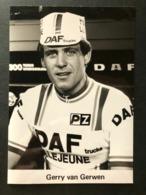 Gerry Van Gerwen - DAF - 1980 -  Photo Press  / Card - Cyclists - Cyclisme - Ciclismo - Wielrennen - Wielrennen