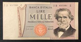 1000 Lire Verdi 15 02 1973 Q.fds LOTTO 3341 - [ 2] 1946-… : Républic