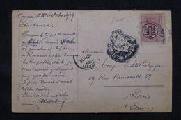 ROUMANIE - Affranchissement Surchargé Sur Carte Postale En 1919 De Buzău Pour Paris - L 69244 - Briefe U. Dokumente