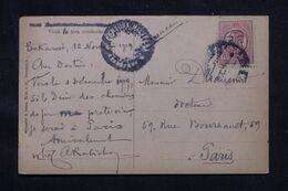 ROUMANIE - Affranchissement Surchargé De Bucarest Sur Carte Postale En 1919 Pour Paris - L 69247 - Briefe U. Dokumente