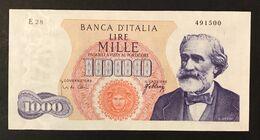 1000 Lire Verdi I° Tipo 10 08 1965  Spl/sup  LOTTO 3345 - [ 2] 1946-… : Républic