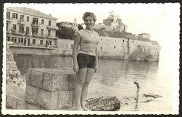 Pretty Woman Girl Old Photo 14x9 Cm #30960 - Persone Anonimi