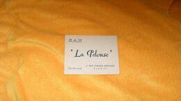 CARTE PUBLICITAIRE LA PELOUSE BAR PARIS 17e.. - Advertising