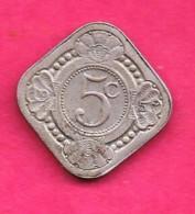 NEDERLANDSE ANTILLEN, 1957 ,  One Fine Used Coin , 5 Cent Copper-nickel,   KM6 , My Scannr. C3310 - [ 4] Colonies