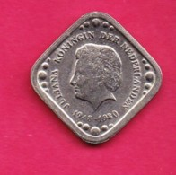 NEDERLANDSE ANTILLEN, 1980 ,  One Fine Used Coin , 5 Cent Copper-Nickel ,   KM13 , My Scannr. C3324 - [ 4] Colonies