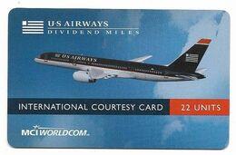 MCI Worldcom Prepaid Phone Card, U.S. Airways # Airplane-9 - Airplanes
