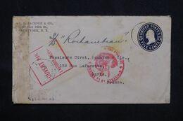 ETATS UNIS - Entier Postal Commercial De New York Pour Paris En 1915 Avec Contrôle Postal - L 69280 - 1901-20