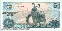 TWN - NORTH KOREA 19c - 5 Won 1978 Prefix ㅎㅈ UNC - Corea Del Nord