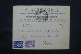 PORTUGAL - Enveloppe Commerciale De Beja Pour Paris Avec Cachet De Censure - L 69286 - Covers & Documents
