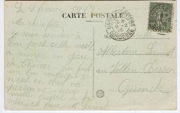 DORDOGNE - Cachet Manuel GARE DE THIVIERS Du 9 -2  18 - Poststempel (Briefe)