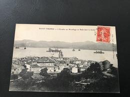 SAINT TROPEZ L'Escadre Au Mouillage En Rade Dans Le Golfe - 1912 Timbrée - Saint-Tropez