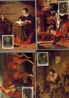 Luxembourg Série De 4 Cartes Maximum Tableaux - Cartes Maximum