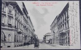 ITALY ITALIA Cartolina MILANO 1901 Via Principe Amedeo - Lombardia - Milano (Milan)