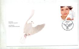 Lettre Fdc  2000 Passage De 1999 à 2000 Enfant Colombe - Premiers Jours (FDC)