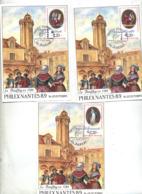 3 Carte Cachet Nantes Philex Sur Revolution - Cachets Commémoratifs