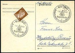 1941, DT.REICH, POSTKARTE, SST STPL. KUTHNO FAHNENWEIHE - Germany