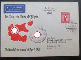 Propaganda Kuvert Brief Anschluss Österreicht 1938 - Germany