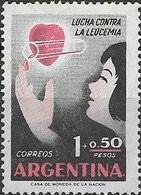 ARGENTINA 1958 Leukaemia Relief Campaign - 1p.+50c Child Receiving Blood MNH - Unused Stamps