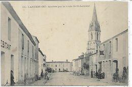 44, Loire Atlantique, LANDEMONT, Arrivée Par La Route De Saint-Laurent, Scan Recto Verso - Francia