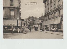 CPA VINCENNES (94) RUE DE MONTREUIL - ANIMEE - Vincennes