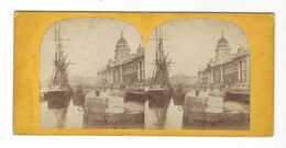 Dublin  The Custom House   Stereoview  Vers 1890 - Stereoscopio