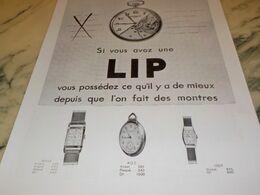 ANCIENNE PUBLICITE ESI VOUS AVEZ UNE  LIP 1932 - Juwelen & Horloges