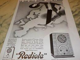 ANCIENNE PUBLICITE LA PLUS BELLE SEMAINE RADIO  RADIOLA  1932 - Radio & TSF