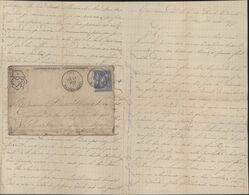 Enveloppe Illustrée Correspondance Sténographique YT 78 Sage Mois émission Juillet 76 CAD Riez 2E  31 JUILLET 1876 - Marcofilia (sobres)