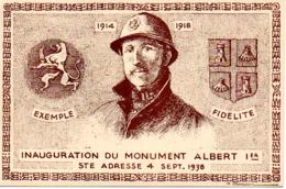 SAINTE ADRESSE  INAUGURATION DU MONUMENT ALBERT 1er  4 SEPT 1938 - Sainte Adresse