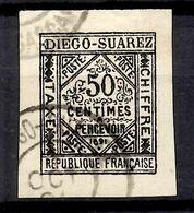Diégo-Suarez Timbre Taxe Maury N° 2 Oblitéré. TB. A Saisir! - Diégo-Suarez (1890-1898)