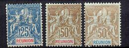 Réunion YT N° 49/51 Neufs *. B/TB. A Saisir! - Réunion (1852-1975)
